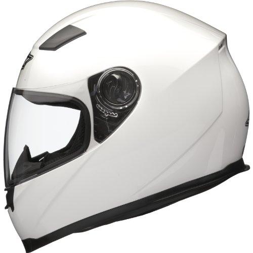 Shox Sniper Solid Motorrad Helm XXL Glänzende Weiß