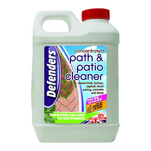 Defenders STV940 Concentrated Path and Patio Cleaner (Non-Acid Formulation, Cleans Paving in Garden Areas, Treats up to 25 sq m), 2 Litre