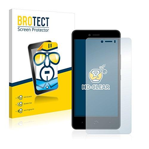 BROTECT Schutzfolie kompatibel mit BQ Aquaris U Lite (2 Stück) klare Bildschirmschutz-Folie