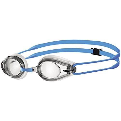 ARENA Jungen Kinder Wettkampf Schwimmbrille Tracks Junior, Clear-Clear-Light Blue, one Size