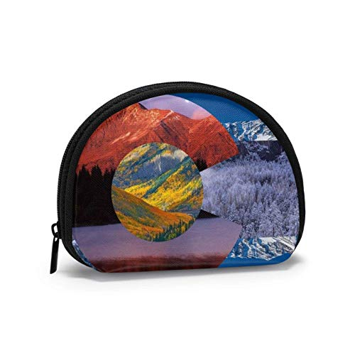 Oxford Stoff Colorado Flagge Kunst Münze Geldbörse Kleine Reißverschluss Brieftasche Wechselbeutel Mini Kosmetik Make-up Taschen Organizer Mehrzweckbeutel