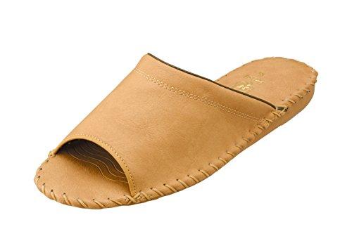 [パンジー] 9723 室内履き メンズ ルームシューズ 手編み製法 耐久性抜群 ロングセラー L ブラウン