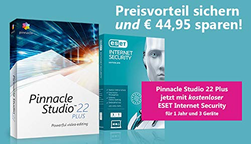 Corel Pinnacle Studio 22 Plus inklusive ESET InternetSecurity 1J/ 3 Geräte