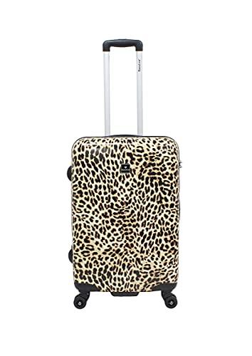 Saxoline - Maleta con Ruedas (tamaño M, 60 cm), diseño de Leopardo