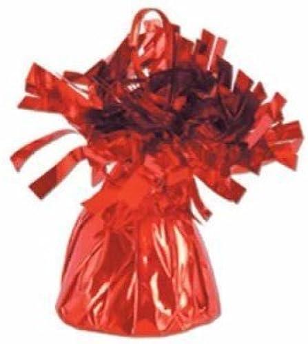 gran venta rojo Metallic Metallic Metallic Balloon Weight, 6oz 6 Per Pack by Beistle  ventas de salida