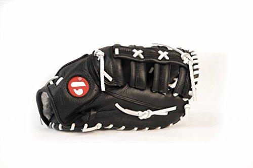barnett GL-301 reg competitie 1er baser honkbal handschoen, echt leer, volwassen, zwart