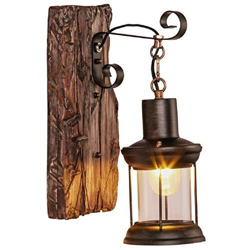 Dosige Vintage wandlampen binnen en buiten wandlamp rustiek metaal voor bar café, hotel restaurant loft en keuken licht plafond muur verlichting tuin (33 x 15 x 23 cm)