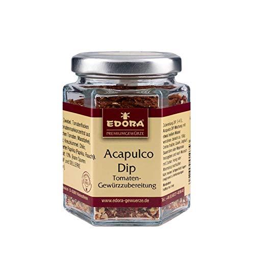 Premium Qualität Gewürz EDORA Schraubglas Acapulco Dip Gewürzzubereitung Tomaten Gewürz 80 Gramm