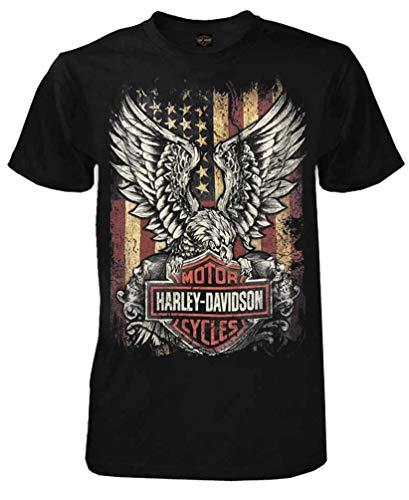Harley-Davidson Men's Custom Freedom Short Sleeve Crew Neck Tee - Black (5XL)