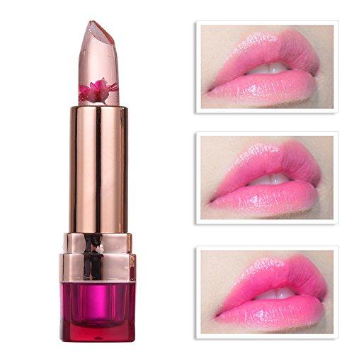 Jelly Transparente Blume Lippenstift Farbwechsel Temperaturänderung Lipstick Moisturizing...