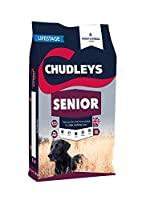 Chudleys senior is especially formulated for mature working dogs from approximately 7 years old 20 percent protein, 8 percent fat, designed to provide for the changes in your dog's nutritional needs as he/she gets older Packed with canine superfood g...