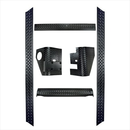 Rugged Ridge 11650.61 6-Piece Body Armor Kit, 97-06 Jeep Wrangler TJ