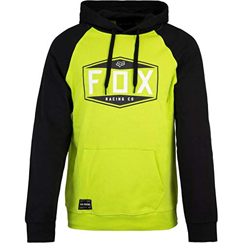 Fox Sudadera con emblema para hombre amarillo XL