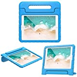 Kids Friendly Case for Amazon Kindle Fire HD 8 Plus 2020, Light-Weight EVA Soft Foam Durable Rugged Shockproof Kidsproof Foldable Convertible Handle Kickstand Cover for Teenagers - Blue