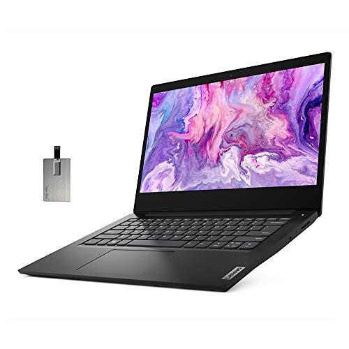 2020 Lenovo Ideapad 3 14' HD Laptop Computer, Intel Pentium Gold 6405U Processor, 8GB RAM, 128GB PCIe SSD, Intel UHD Graphics, Speakers, Webcam, Bluetooth, Windows 10 S, Black, 32GB SnowBell USB Card