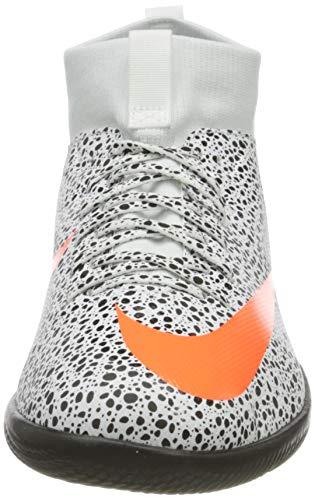 Nike Jr. Superfly 7 Academy CR7 IC, Football Shoe, White/Total Orange-Black, 35.5 EU