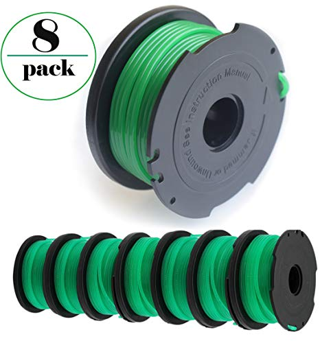 GH3000 String Trimmer Replacement, sf-080 Spool Line Compatible with Black and Decker SF-080 GH3000 LST540 Weed Eater, 20ft 0.080 inch GH3000R LST540B Edger Refills(8-Pack)