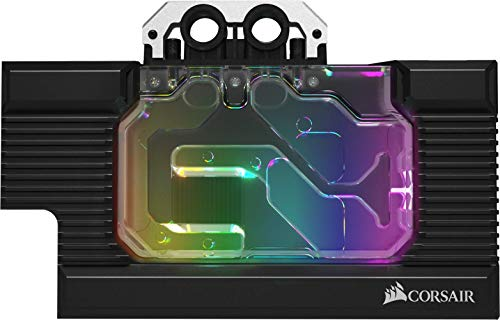 Corsair Hydro X Series, XG7 RGB 20-SERIES GPU-Wasserkühler für NVIDIA GeForce 2070 Founders Edition (Präzise Konstruktion, Aluminium Backplate, Durchflussindikator, Anpassbar RGB-Beleucht) Schwarz