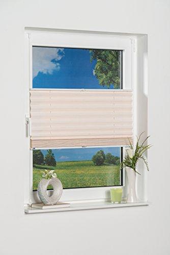 K-home Klemmfix-Bambus-Plissee Weiß 70 x 130 cm (B x L)