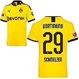 PUMA Borussia Dortmund BVB Heimtrikot 2019/20 Home Trikot Sponsor BL Logo Kinder Marcel Schmelzer 29 Gr 176