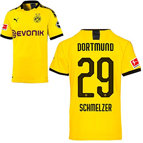 PUMA Borussia Dortmund BVB Heimtrikot 2019/20 Home Trikot Sponsor BL Logo Kinder Marcel Schmelzer 29 Gr 140