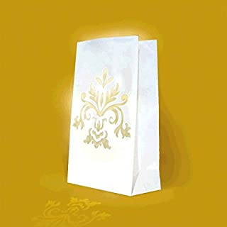 Amscan 379276 Bridal Paper Bag Luminaries   Wedding and Engagement Party , 24ct
