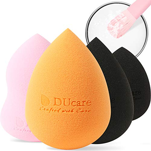 DUcare Spugnette Make Up 4pcs Nessun di Lattice & Pulizia Pennelli Trucco...