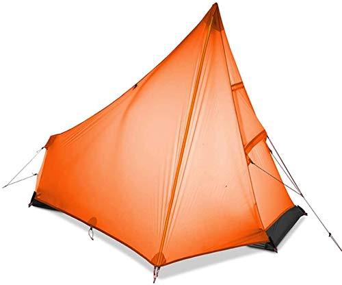 YYCHJU Carpa para Camping Tienda Tienda de campaña Ultraligero al Aire Libre Portátil Recubierto de Silicona Campaña Camping de Camping al Aire Libre Camping Pyramid Tienda (Color : Orange)