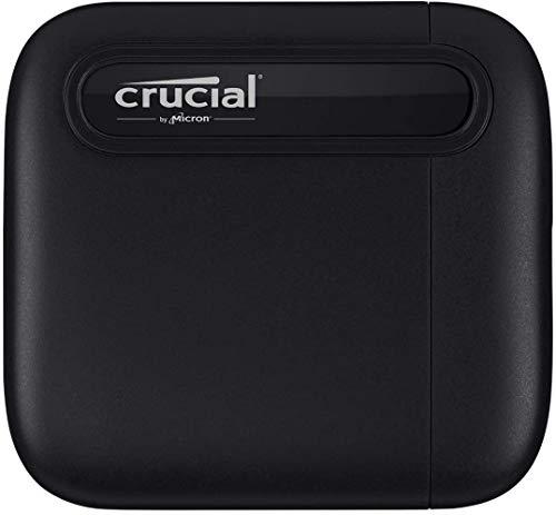 Crucial CT1000X6SSD9 X6 1TB Portable SSD, Fino a 540MB/s, USB 3.2, Unità a Stato Solido Esterno, USB-C
