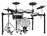 XDrum DD-650 Mesh E-Drum Kit - elektronisches Schlagzeug mit echter HiHat - 14' Snare-Pad und 14' Kick-Pad aus Holz - 720 Sounds, 20 Preset-...