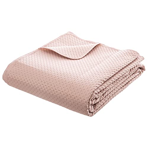 Colcha con 2 fundas de almohada - Set - Cuadros - Colcha - Rosa - Suave - Poliéster - Colcha Grande - 240 x 260 cm