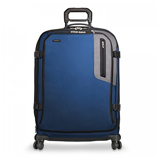 Briggs & Riley BRX-Explore Softside Expandable Large Checked Spinner Luggage, Blue, 29-Inch