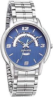 سوناتا ، مقاومة للماء، ميناء أزرق مع تقويم، ساعة رجالي