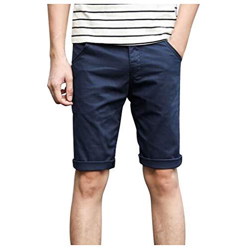 Pantalones Cortos De Deporte Hombre Shorts Playa De Casual para Hombre,2021 Pantalones Cortos Casuales De Color Sólido De Primavera Verano para Hombres Pantalones De Cinco Minutos
