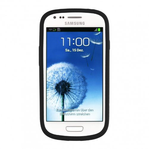 Artwizz 9762-SJS-SG-S3M-B SeeJacket - Carcasa de silicona para Samsung Galaxy S3 Mini GT-i8190, color negro