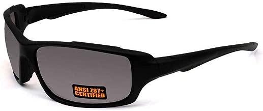 Maxx Safety Series-2 Black Sport Motorcycle Riding Sunglasses Smoke Lenses