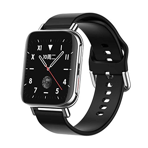 OH Smart Watch Bluetooth Music Player Deportes Pedómetro Pulsera Inforión de Llamadas Recordatorio Ip67 Impermeable Regalo de vacaciones/Plata