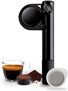 Handpresso 48238 pump svart – bärbar, manuell espressomaskin för ESE-kuddar eller malet kaffe