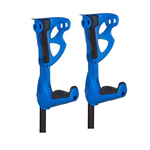 FDI - Muletas De Adulto Opticomfort Premium. Par De Muletas Regulables En Altura Y Reposabrazos y Empuñadura Acolchadas. Ultraligeras De Aluminio. Color Azul. Talla Única