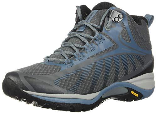 Merrell Women's Siren Edge 3 Mid Waterproof Hiking Boot, Rock/Bluestone - 7 Medium