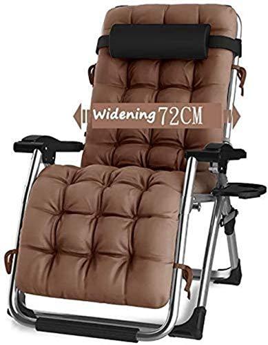 Tumbona de jardín reclinable con almohadas, reclinable, para jardín, exterior, con cojines de gravedad cero, para patio, camping, ajustable y portátil de hasta 200 kg