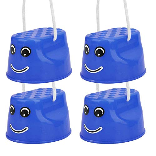 Bicaquu Zancos Ligeros Antideslizantes para Caminar, zancos para niños, para Deportes al Aire Libre, Divertidos Ejercicios de Fitness para niños(Blue)