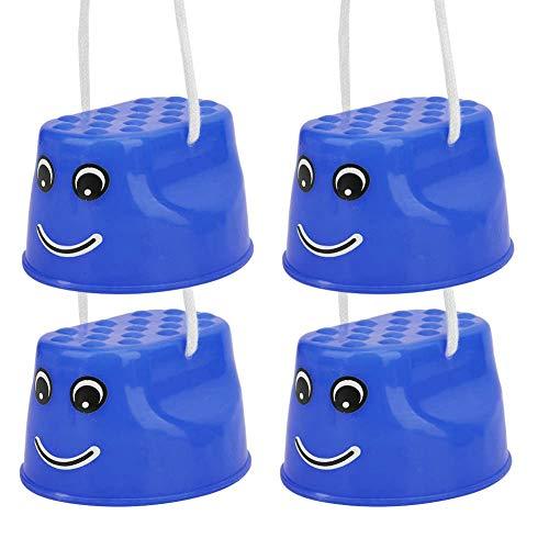 Alomejor 1 Paar Kinder Stelzen, Walk Stilt Balance Jumping Stelzen Kindertrainer Spielzeug Füße Indoor Outdoor Sportgeräte für Kinder Kinder(Blau)