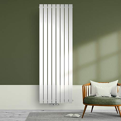Design Heizkörper 1800x620mm Designer Heizung Heizung Vertikal Einlagig Mittelanschluss 1317 Watt Weiß