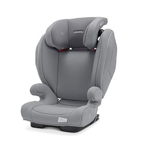 Recaro Kids, Siège Auto Monza Nova 2 SF Groupe 2/3 pour Enfants de 15 à 36 kg, et de 3 à 12 ans, Installation Universelle avec ou sans Connecteurs ISOFIX, Système de Sonorisation Intégré, Grey
