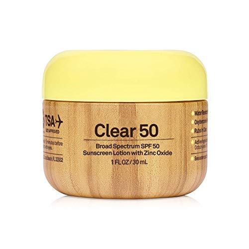 Sun Bum Original SPF 50 Clear Sunscreen with Zinc | Vegan and Reef Friendly (Octinoxate & Oxybenzone Free) Broad Spectrum Moisturizing UVA/UVB Sunscreen with Vitamin E | 1 Fl Oz
