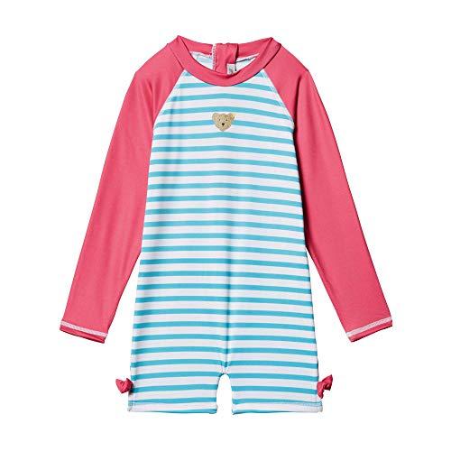Steiff Baby-Mädchen Strand Overall Badeanzug, Türkis (Blue Curacao 6029), 86