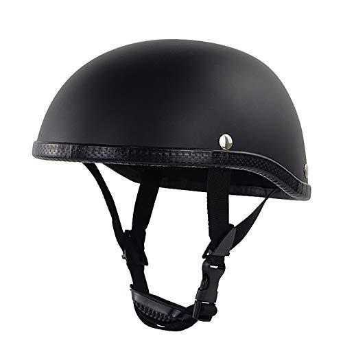 Retro Cascos Abiertos Half Helmet,ECE Homologado,Medio Casco Jet Casco Estilo Alemán Motocicleta Crucero Scooter Off-Road Casco Exterior Equitación Protectora Casco B,54~60cm