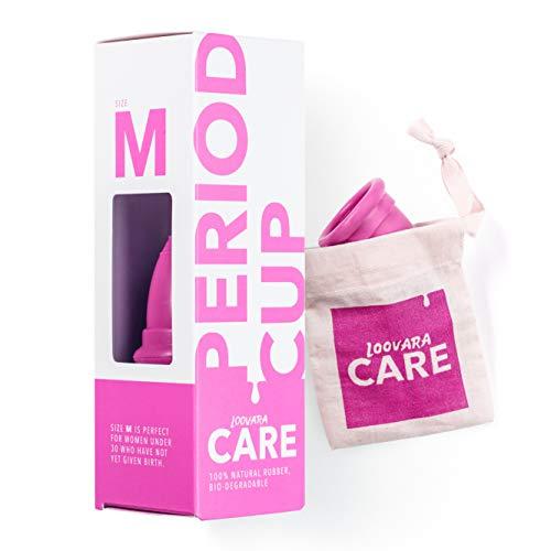 Loovara – Menstruationstasse aus 100% Naturkautschuk (Größe M), Made in Germany I Vegan, silikonfrei, ohne Bleichmittel I Lebensdauer bis zu 10 Jahre