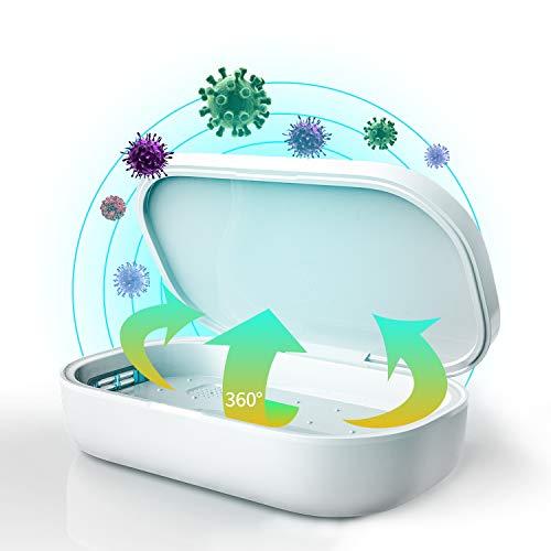UV Sterilisator Box Desinfektion mit Ozon LED UV Ozon Lichtbox MESTEK für Schnuller Handy Beauty Tools Spielzeug Geschirr Zahnbürste Schmuck Schlüsseluhren Brille 99,9% Sterilisationsrate